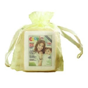 Shortbread Cookie with Icing in Organza Bag with Your Photo