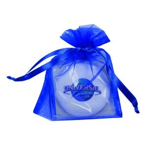Round Shortbread Cookie with Icing in Organza Bag