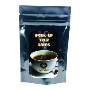 Black Coffee Bag - 1.5 oz. with Your Custom Logo
