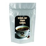 Silver Coffee Bag - 1.5 oz. with Your Custom Logo