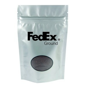 Silver Coffee Bag - 4 oz. with Your Custom Logo