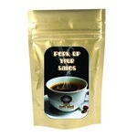 Gold Coffee Bag - .75 oz. with Your Custom Logo