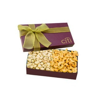 The Executive Cashew & Pistachio Box - Burgundy