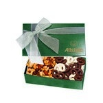 The Executive Chocolate Covered Pretzel & Mixed Nut Box - Green