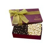 The Executive Chocolate Covered Almond & Pistachio Box - Burgundy