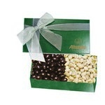 The Executive Chocolate Covered Almond & Pistachio Box - Green