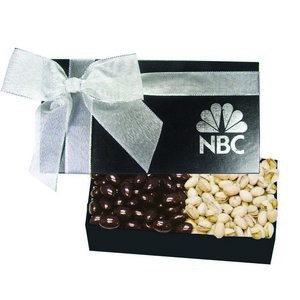The Executive Chocolate Covered Almond & Pistachio Box - Black