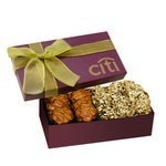 The Executive Almond Butter Crunch & Cashew Turtle Box - Burgundy