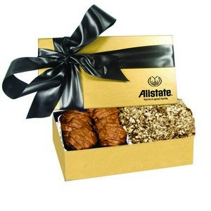 The Executive Almond Butter Crunch & Cashew Turtle Box - Gold 
