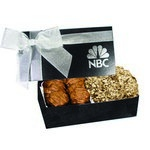The Executive Almond Butter Crunch & Cashew Turtle Box - Black