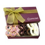The Executive Pretzel Gift Box - Burgundy