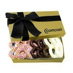 The Executive Pretzel Gift Box - Gold