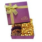 The Chairman Popcorn & Cookie Gift Box - Burgundy
