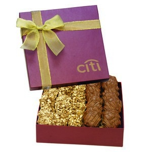 The Chairman Butter Crunch & Turtle Gift Box - Burgundy
