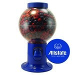 Blue Gumball Machine with Logo and Corporate Color Chocolates
