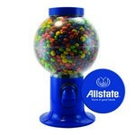 Blue Gumball Machine with Logo and Chocolate Littles