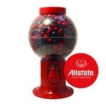 Red Gumball Machine with Logo and Corporate Color Chocolates