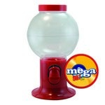 Red Gumball Machine Empty with Logo