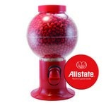 Red Gumball Machine with Logo and Cinnamon Red Hots