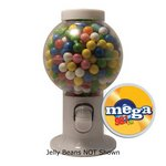 White Gumball Machine with Corporate Jelly Beans