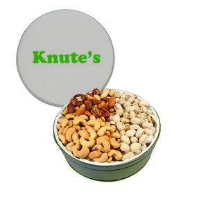 The Grand Tin with Mixed Nuts, Pistachios & Cashews - Silver 