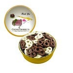 The Grand Tin with Chocolate Covered Mini Pretzels - Gold