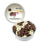 The Grand Tin with Chocolate Covered Mini Pretzels - White