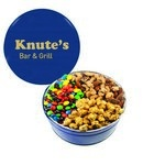 The Grand M&M's, Mixed Nuts, and Caramel Popcorn Gift Tin  - Blue