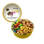 The Grand M&M's, Mixed Nuts, and Caramel Popcorn Gift Tin - Gold