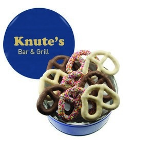 The Grand Pretzel Gift Tin - Blue 