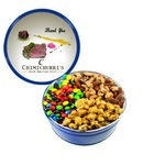 The Royal Tin with M&M's, Nuts & Caramel Popcorn - Blue