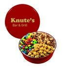 The Royal Tin with M&M's, Nuts & Caramel Popcorn - Red