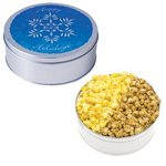 The King Size Popcorn Tin - Snowflake Design