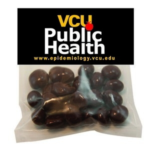 Large Candy Bag (with Header Card) with Chocolate Covered Raisins