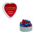 Heart Tin with Custom Candy Colored Bullet Candy