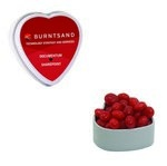 Heart Tin with Custom Candy Cinnamon Red Hots