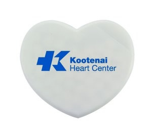 Heart-Shaped Plastic Mint Card with Sugar-Free Mints