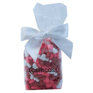 Mug Stuffer Gift Bag with Candy Hearts - Clear
