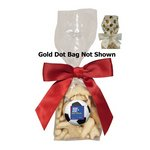 Mug Stuffer Gift Bag with Animal Crackers - Gold Dots