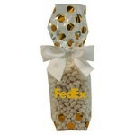 Mug Stuffer Gift Bag with Colored Bullet Candy - Gold Dots