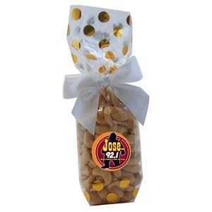 Mug Stuffer Gift Bag with Cashews - Gold Dots