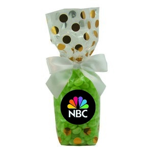 Mug Stuffer Gift Bag with Corporate Color Chocolates - Gold Dots 