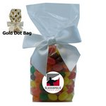 Mug Stuffer Gift Bag with Corporate Jelly Beans - Gold Dots