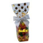 Mug Stuffer Gift Bag with Jelly Beans - Gold Dots