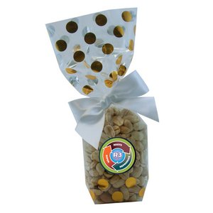 Mug Stuffer Gift Bag with Peanuts - Gold Dots 