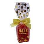 Mug Stuffer Gift Bag with Cinnamon Red Hots - Gold Dots