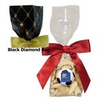 Mug Stuffer Gift Bag with Animal Crackers - Black Diamonds