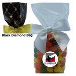 Mug Stuffer Gift Bag with Corporate Jelly Beans - Black Diamonds