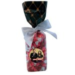 Mug Stuffer Gift Bag with Candy Hearts - Black Diamonds