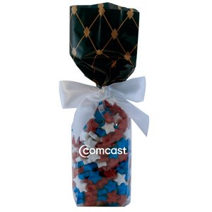 Mug Stuffer Gift Bag with Candy Stars - Black Diamonds 